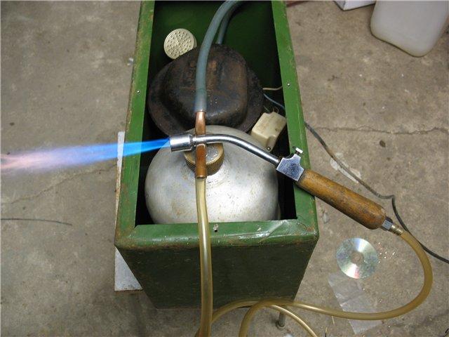 Как сделать бензиновую горелку для пайки